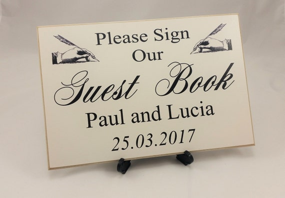 Wedding Guest Book Sign, Gift Table Sign, Personalised, Wedding ...