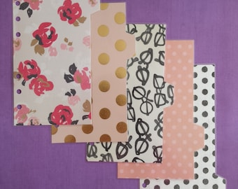 "Set of 5 dividers ""Pretty edtion"""