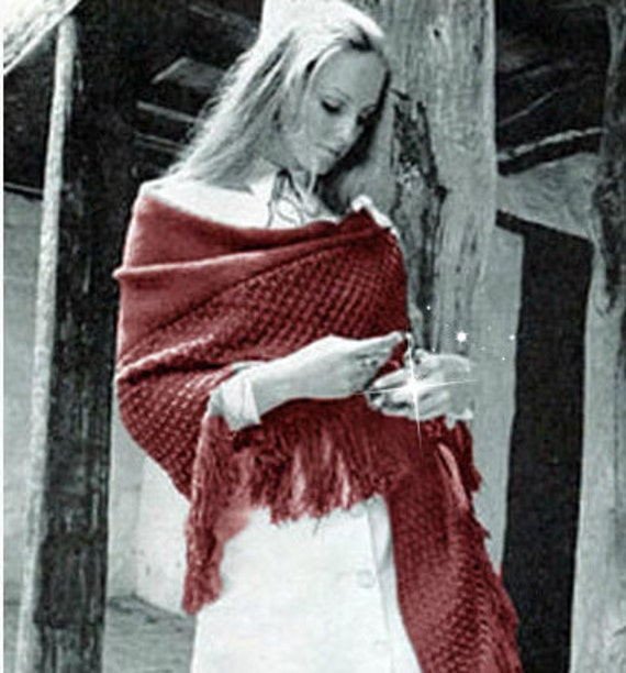 Bohemian Knitting Patterns : Shawl Pattern Bohemian Clothing Poncho Pattern Wrap Pattern