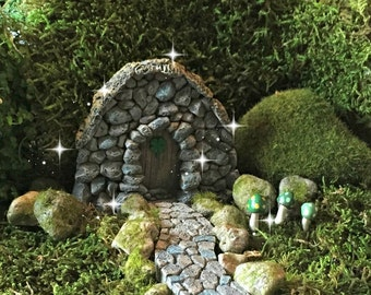 Fairy garden kit, St. Patrick's Day fairy garden, lucky fairy, Fairy door, gnome door, hobbit door, troll door, stone door, mini St. Patty