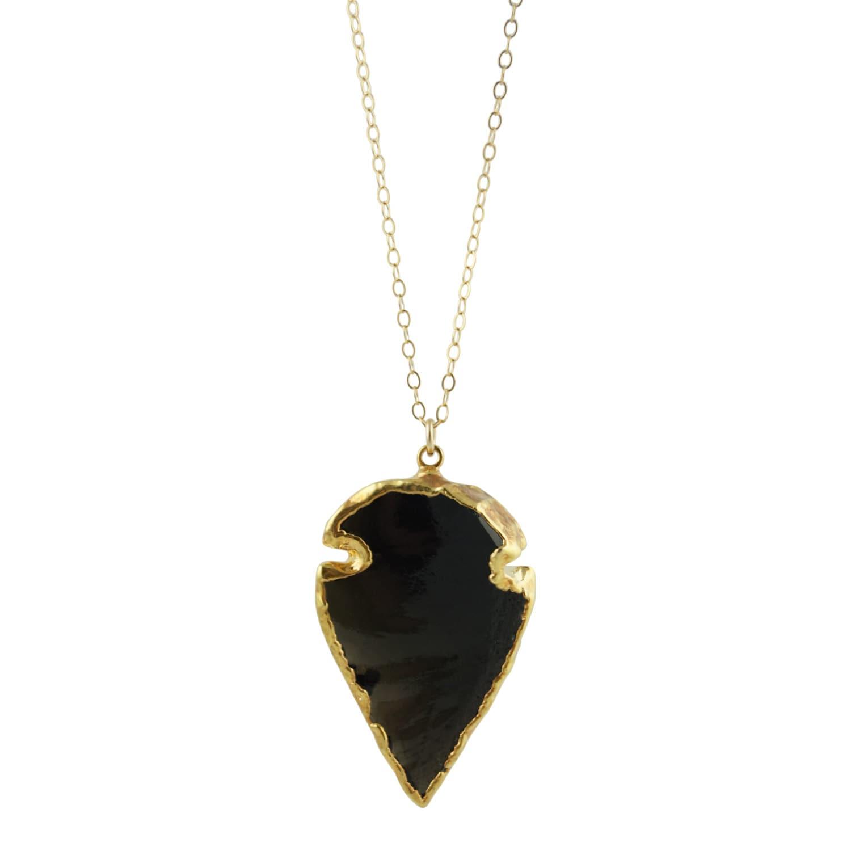 black obsidian arrowhead necklace arrowhead necklace