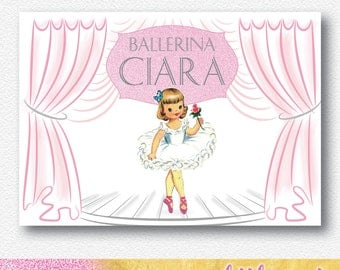 Ballerina Party Backdrop/Banner | Personalised PDF