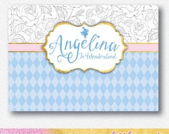 Alice in Wonderland Party Backdrop |  Personalised Digital file