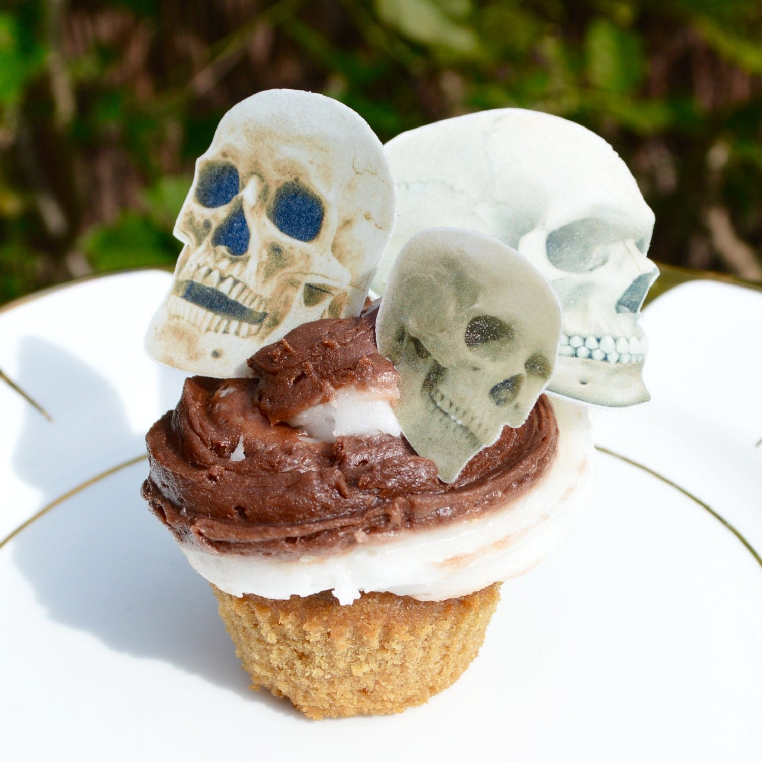 Edible Cake Decorations Skull : Edible Skulls Realistic Bone Skull Halloween Wafer Rice Paper