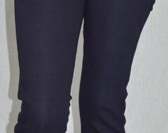 Stretch blue skinny jeans