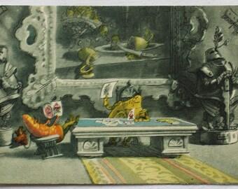 "Illustrator Galey. Vintage Soviet Postcard ""Adventures of Cipollino"" Gianni Rodari - 1956. Sovetskiy hudozhnik. Prince Lemon, Sleuth Carrot"