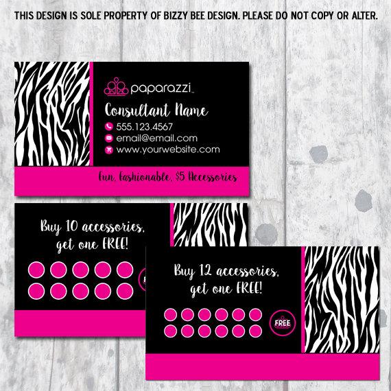 Paparazzi jewelry business card digital download for Jewelry business card