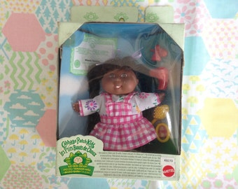 Vintage Mattel 1995 Cabbage Patch Kids Kid MINI African American Black doll June 1st Nicole Patrice rare hard to find 90s doll 21st birthday