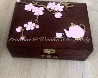 Beautiful handcrafted wooden teabox