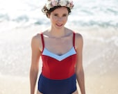 Design One Piece Swimsuit,Red Swim Suit One Piece Bathing Suit Flattering Design.