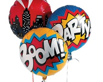 Superhero Balloon Set