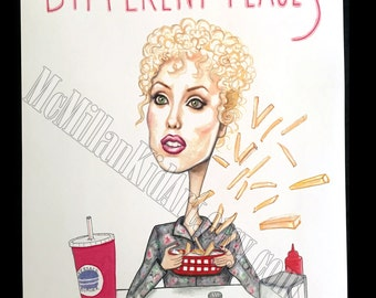 """Showgirls """"Different Places"""" Nomi Malone Movie Quote Art Print"""