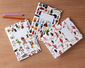 Alice in Wonderland Notebooks Set of 3