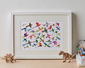 The Grey Go-Away Birds Giclée Print