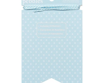 DIY Light Blue Polka Dot Banner Kit