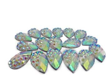 10 ab rhinestones,flatback rhinestones, rhinestone teardrops, acrylic rhinestones, glue on rhinestones, wedding diy, flower centres,