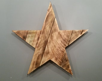 Rustic Cedar Wood Barn Star - 20""