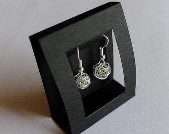3D Scribble Drop Earrings