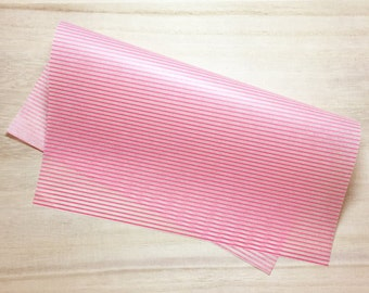 Pink Stripes Food Wrapping Paper (10 Sheets / 22cm x 25cm) Cake Wax Paper Greaseproof Paper Candy Wrap Paper P0176