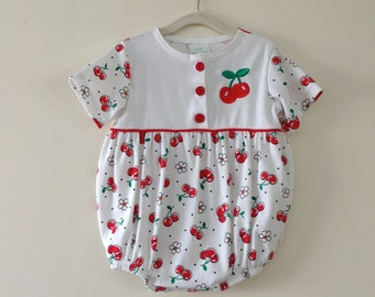 Adorable Cherry Pattern Onsie - Size 12 months
