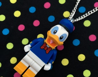 Donald Duck Minifigure Necklace...Handmade using LEGO® parts