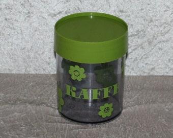 "Nice 60s retro vintage storage Canister Jar Box. ""Sally"" for coffee. Designed by danish Erik Kold for Nils Johan, Sweden"