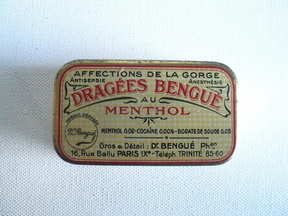 ancienne bo te menthol borate coca ne bo te de drag es dr. Black Bedroom Furniture Sets. Home Design Ideas