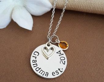 Established Necklace For Grandma | Grandmother Necklace | New Grandma Gift | Grandma Since