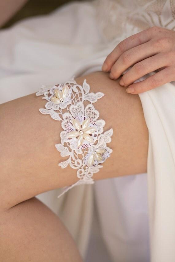 jarretire mariage dentelle blanche jarretire de marie ivoire boho porte jarretelles jarretire - Jarretiere Mariage
