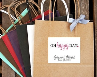 oh happy day! {with Heart} Wedding Welcome Bag | Guest Hotel Bag | Guest Welcome Bag