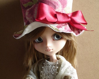 Hat top shape shabby  «Red Roses» for Pullip dolls