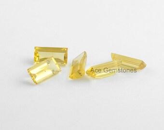 Flat Buff Top Lemon Quartz Loose Gemstone, Buff Top Gemstone, Wholesale Gemstone, High Quality Gemstone - 5Pcs