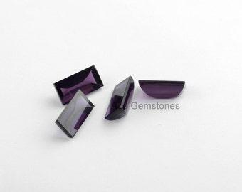 Loose Gemstone, Flat Buff Top Gemstone, Purple Amethyst Quartz Gemstone, Buff Top Gemstone, Wholesale Gemstone, Faceted Gemstone - 5Pcs