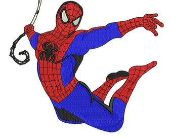 Spiderman filled embroidery pattern 4 sizes Machine embroidery design Digital Download