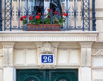 Paris photography, Paris window geranium, flower box, French window box, French wall art, Paris decor, home decor, fine art print