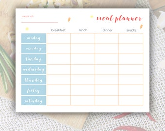 Meal Plan Printable, Meal Planner Printable, Meal Planning, Weekly Meal Planner, Printable Planner, Winter Planner, Summer Design