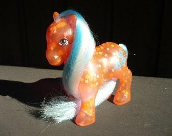Vintage G1 My Little Pony Glow N Show HappyGlow Rare See Thru & Glows In Dark