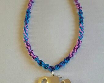 Handmade Carnival Party Hatchet Girl Juggalette Hemp Necklace