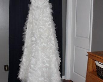 Beautiful White Tulle Wedding Dress