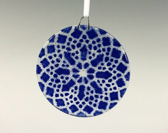 Cobalt Blue Ornament Lace Ornament
