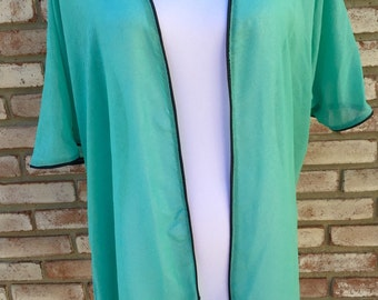 Kimono, Fall Cardigan, Mint, Kimono Jacket, Kimono Boho, Gift For Her, Wedding Gift, Beach Cover Up, Nursing Cover, Maternity Robe, Bohemian