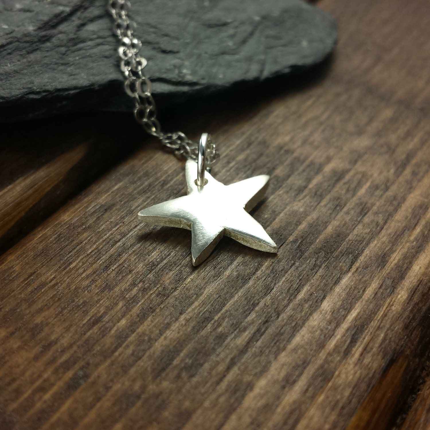 Silver Star Necklace Simple Silver Necklace Celestial