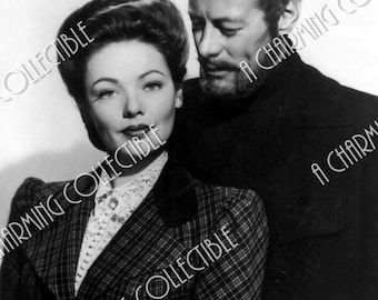 """Gene Tierney & Rex Harrison 5x7, 8x10 Photo Print 1947 """"The Ghost and Mrs. Muir"""" Hollywood Classic Art Home Decor Print"""
