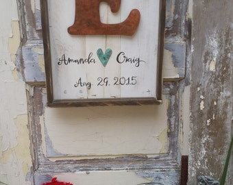 Https Www Etsy Com Listing 193442747 Initial Signs Letter Signs Wood Wall