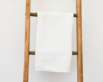 White Linen Tea Towel - 66cmx42cm