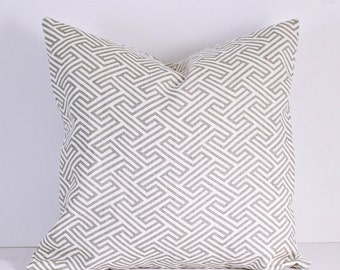 18x18 gray and white geometric pillow cover / pillow cover / home decor / modern /