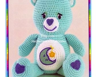 Crochet Pattern PDF for 10 Carebears, Toy Crochet Pattern, 10 Carebears Crochet Pattern, Baby Toy Crochet Pattern, Instant download - 1045