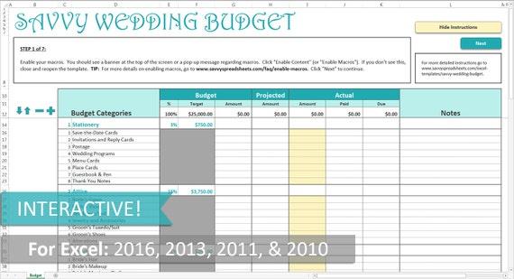 client le branch e mariage budget excel par savvyspreadsheets. Black Bedroom Furniture Sets. Home Design Ideas