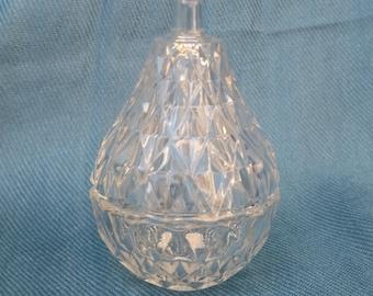 Glass Pear Jewelry Box