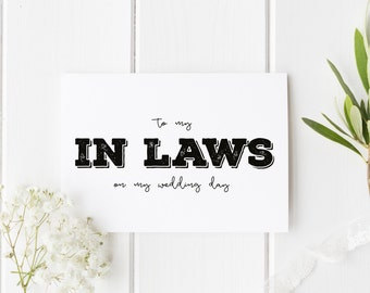 Rustic Parents In Law Wedding Card, To My In Laws Wedding Day Card, Parents-In-Law Wedding Card, Rustic To My Parents In Law On Wedding Day